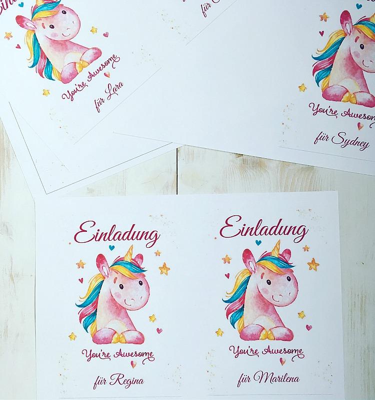 Ideen für eine tolle Einhorn / Regenbogen Party 48