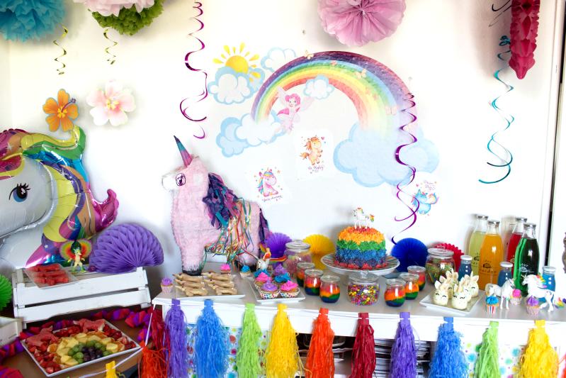 Ideen für eine tolle Einhorn / Regenbogen Party 9