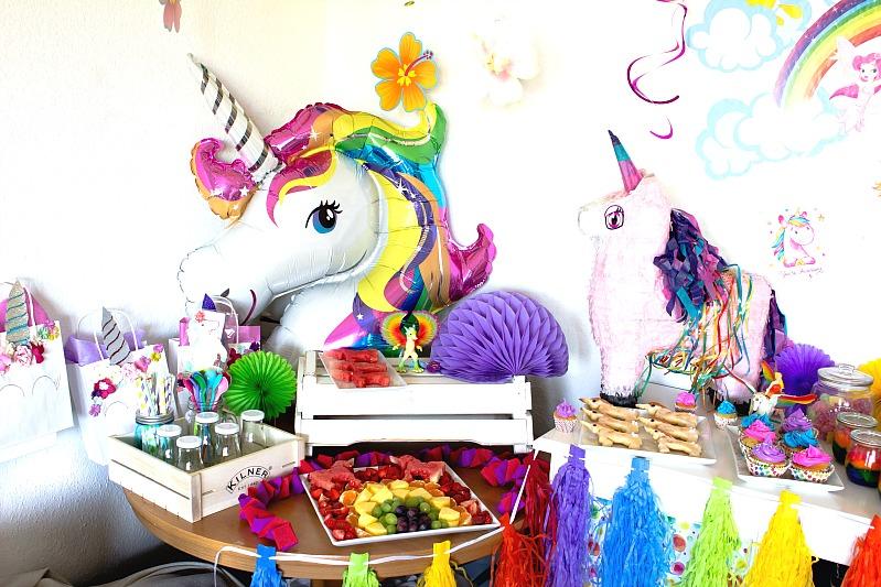 Ideen für eine tolle Einhorn / Regenbogen Party 28