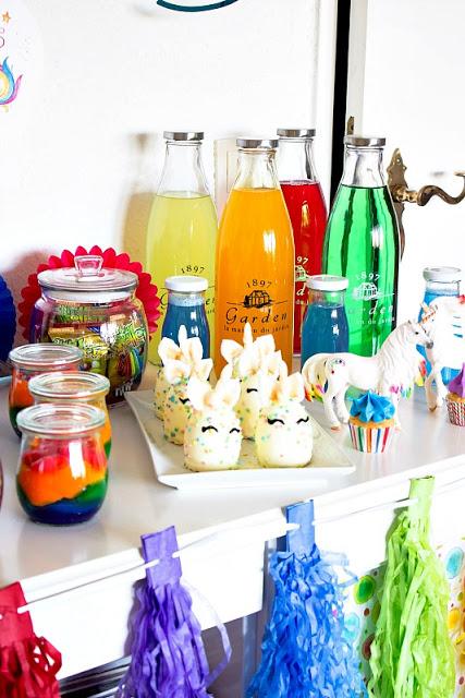 Ideen für eine tolle Einhorn / Regenbogen Party 31