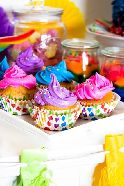 Ideen für eine tolle Einhorn / Regenbogen Party 30