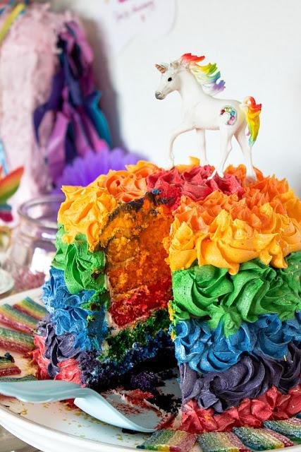 Ideen für eine tolle Einhorn / Regenbogen Party 27