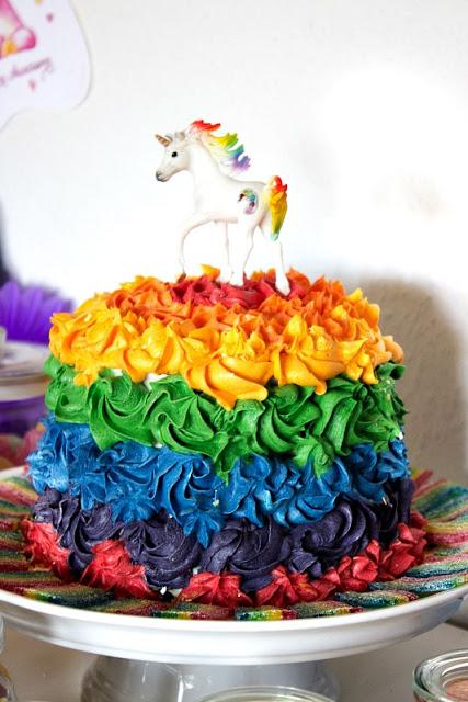 Ideen für eine tolle Einhorn / Regenbogen Party 26
