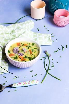 Schwedische Sommersuppe mit Lachs 3