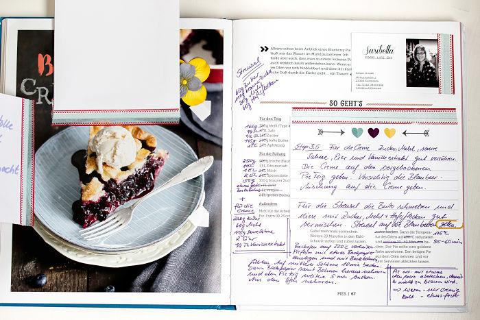 """Cremiger Blaubeer Pie mit Knusperstreuseln -""""Bake in the USA"""" ein Buch auf Reisen 11"""