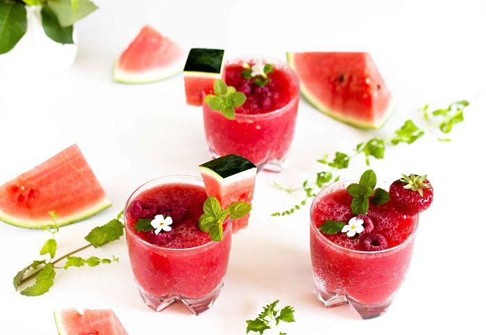 Erfrischender Melonen-Himbeer Frose` - der ideale Sommerdrink 5