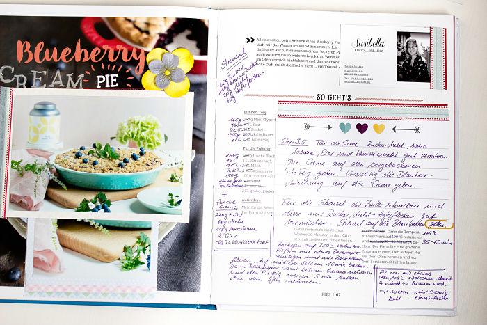 """Cremiger Blaubeer Pie mit Knusperstreuseln -""""Bake in the USA"""" ein Buch auf Reisen 39"""