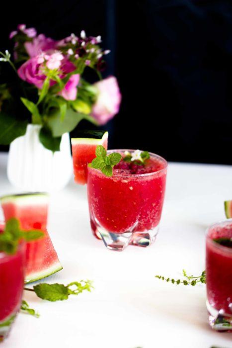 Erfrischender Melonen-Himbeer Frose` - der ideale Sommerdrink 8