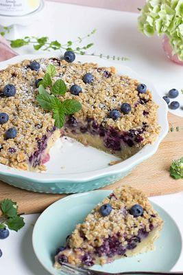 """Cremiger Blaubeer Pie mit Knusperstreuseln -""""Bake in the USA"""" ein Buch auf Reisen 43"""