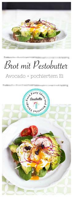 Herzhaftes Frühstücksbrot mit Pestobutter,Avocado und pochiertem Ei 4