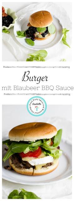 Burger mit Blaubeer-BBQ Sauce und Brie 3
