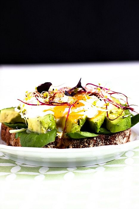 Herzhaftes Frühstücksbrot mit Pestobutter,Avocado und pochiertem Ei 1