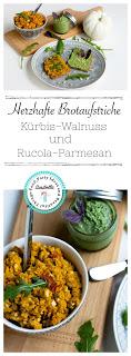 Kürbis-Nuss Brotaufstrich und Rucola-Parmesan Aufstrich 12