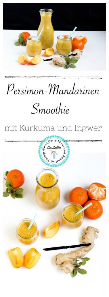 Persimon-Mandarinen Smoothie mit Kurkuma und Ingwer 3
