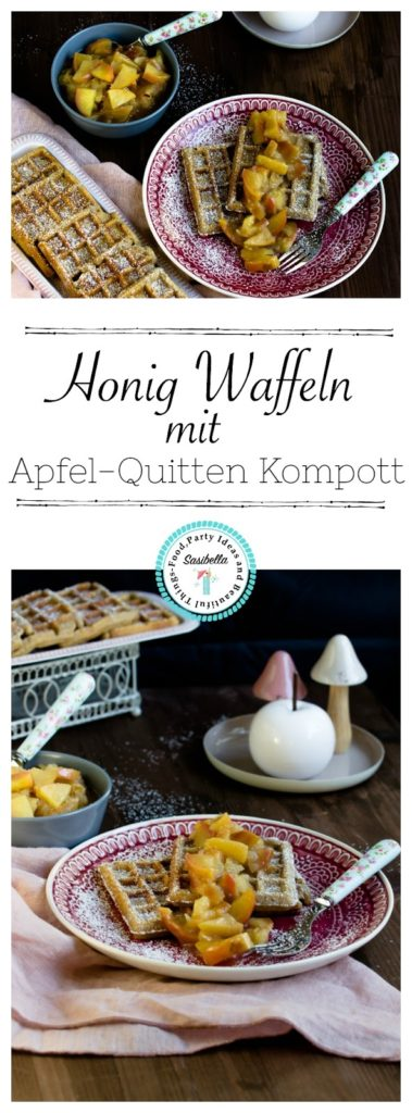 Honig-Waffeln mit Apfel-Quitten Kompott 14