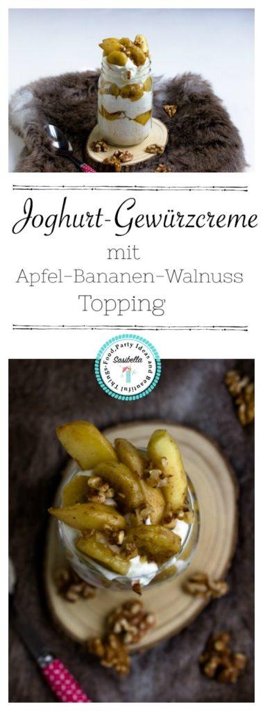Weihnachtliche Joghurtcreme mit Bratapfel-Bananen-Walnuss Topping 4