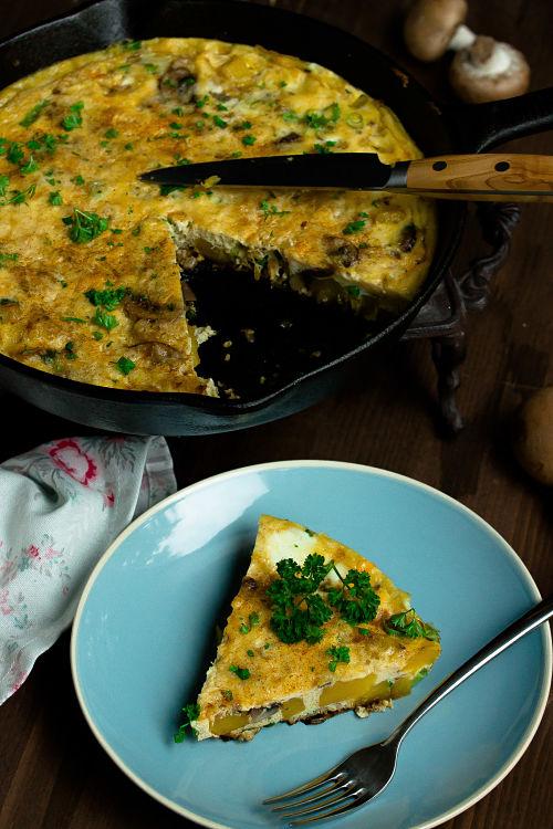 Frittata mit Butternut-Kürbis und Champignons - Mein Frühstücksglück 14