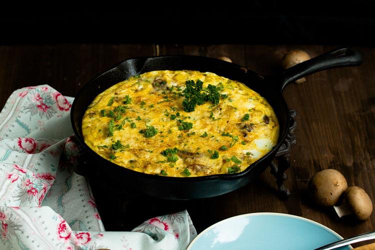 Frittata mit Butternut-Kürbis und Champignons - Mein Frühstücksglück 4