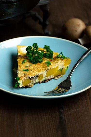 Frittata mit Butternut-Kürbis und Champignons - Mein Frühstücksglück 6