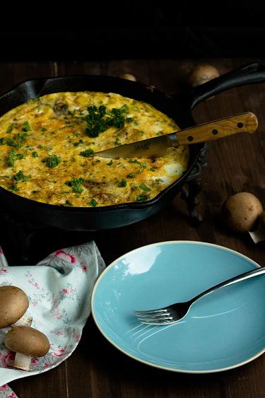Frittata mit Butternut-Kürbis und Champignons - Mein Frühstücksglück 3
