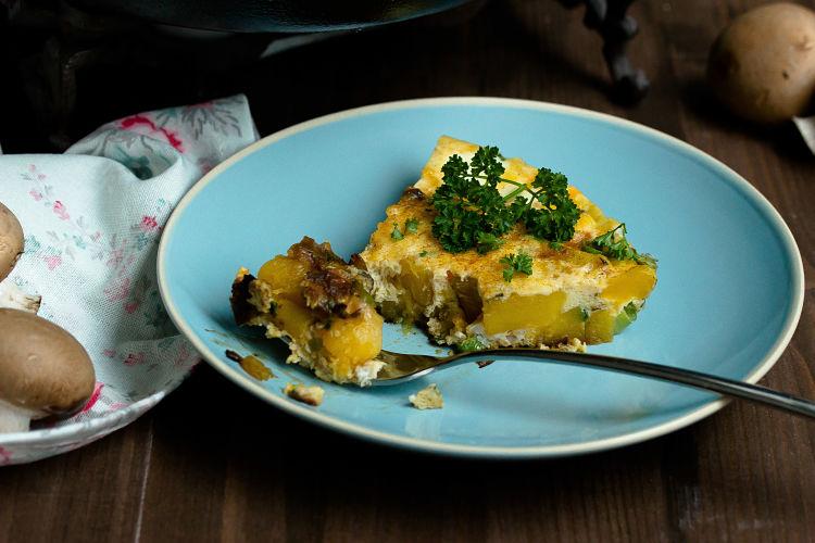 Frittata mit Butternut-Kürbis und Champignons - Mein Frühstücksglück 12