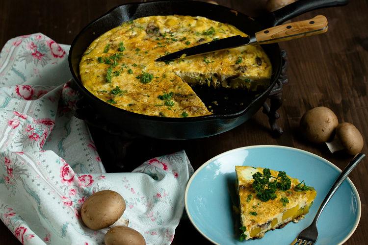 Frittata mit Butternut-Kürbis und Champignons - Mein Frühstücksglück 8