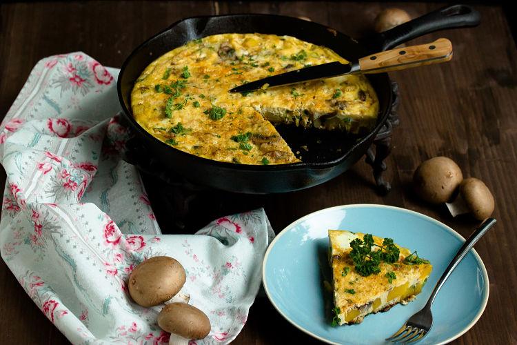 Frittata mit Butternut-Kürbis und Champignons - Mein Frühstücksglück 1