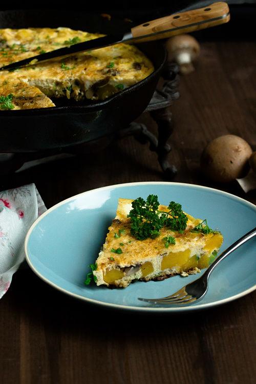 Frittata mit Butternut-Kürbis und Champignons - Mein Frühstücksglück 5