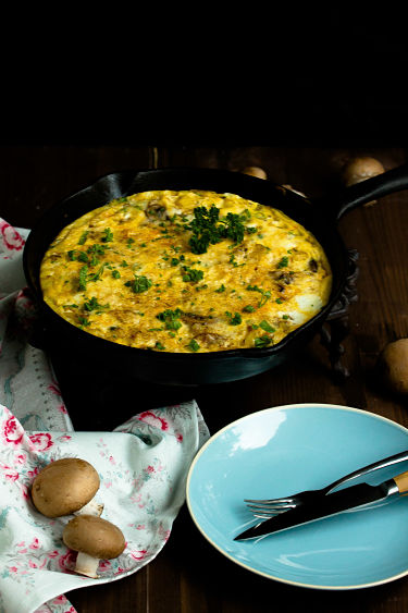 Frittata mit Butternut-Kürbis und Champignons - Mein Frühstücksglück 11