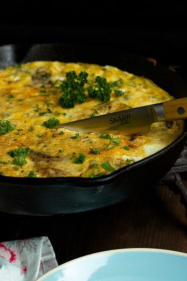 Frittata mit Butternut-Kürbis und Champignons - Mein Frühstücksglück 10
