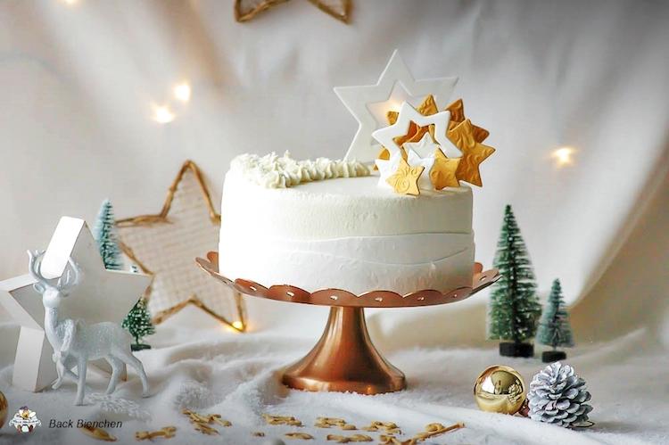 Winterzauber - eine einfache Weihnachtstorte mit Gewürzen / Adventskalender Türchen 9 17