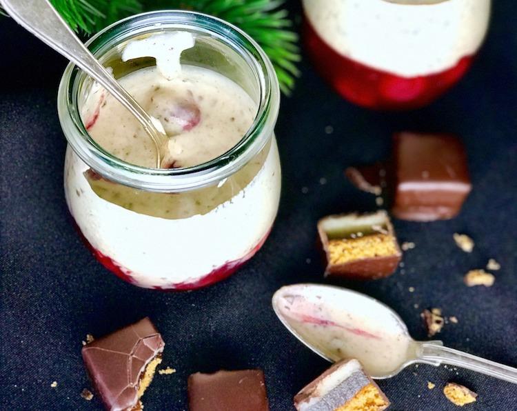 Dominostein Dessert mit Kirschen / Adventskalender Türchen 12 14