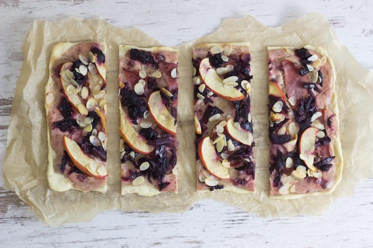 Winterlicher Flammkuchen mit Rotkohl und Ente / Adventskalender Türchen 19 9