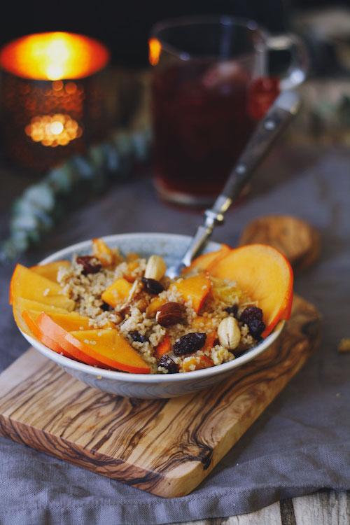 Frühstücks-Couscous mit Kaki,Orange und Nüssen /Adventskalendertürchen 14 3