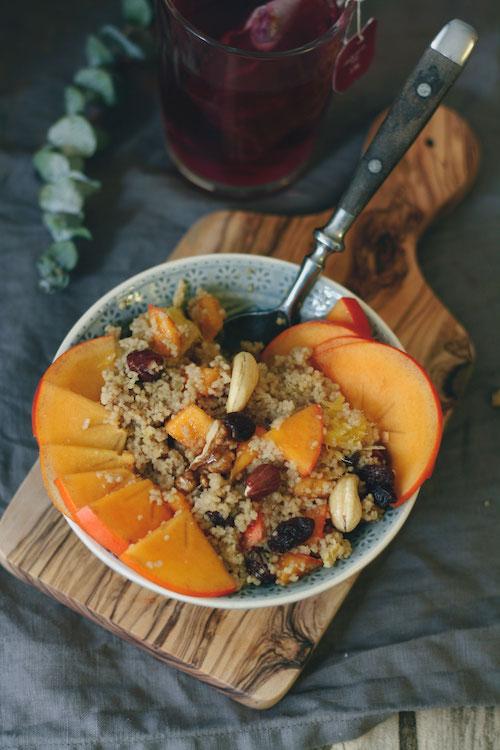 Frühstücks-Couscous mit Kaki,Orange und Nüssen /Adventskalendertürchen 14 4