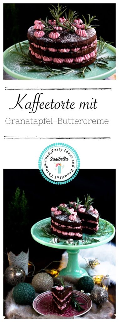 Kaffeetorte mit Granatapfel Buttercreme + Verlosung (Werbung) 3