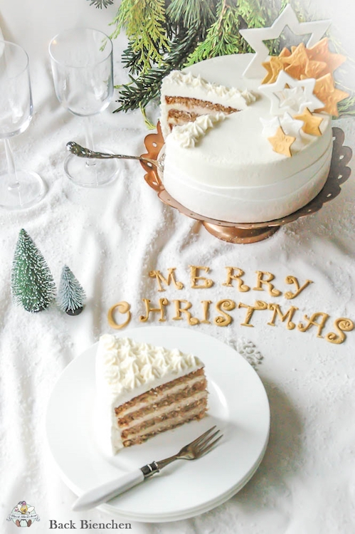 Winterzauber - eine einfache Weihnachtstorte mit Gewürzen / Adventskalender Türchen 9 6
