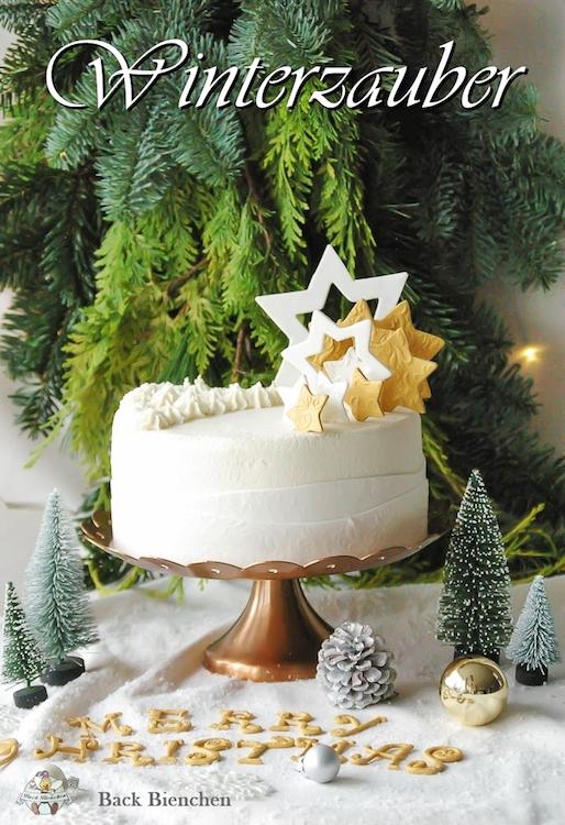 Winterzauber - eine einfache Weihnachtstorte mit Gewürzen / Adventskalender Türchen 9 3