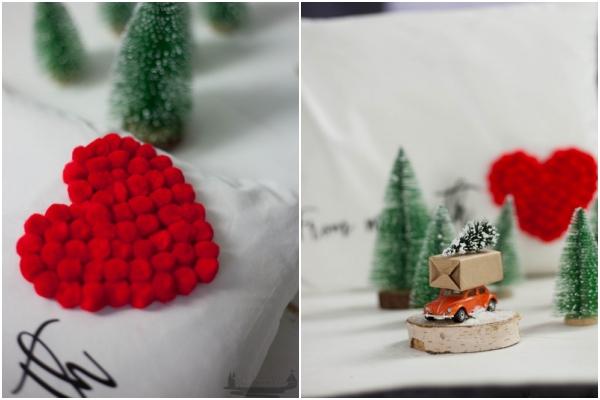 DIY IDEE POMPOMKISSEN + Plotter-Freebie /Adventskalendertürchen 6 5