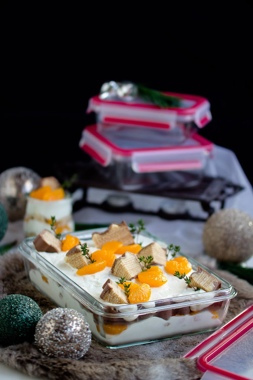 Baumkuchen-Dessert mit Orangen + Licor43 / Verlosung EMSA (Werbung) Foodblogger Adventskalender 20