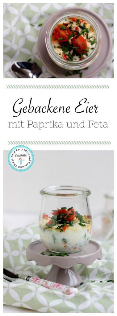 Gebackene Eier mit geschmorter Paprika und Feta / Mein Frühstücksglück 24
