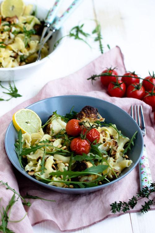 Pasta mit geröstetem Blumenkohl und Knoblauch-Zitronensauce - Pastaliebe im Januar 42