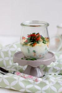 Gebackene Eier mit geschmorter Paprika und Feta / Mein Frühstücksglück