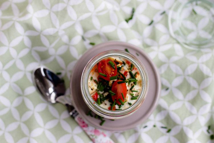 Gebackene Eier mit geschmorter Paprika und Feta / Mein Frühstücksglück 4