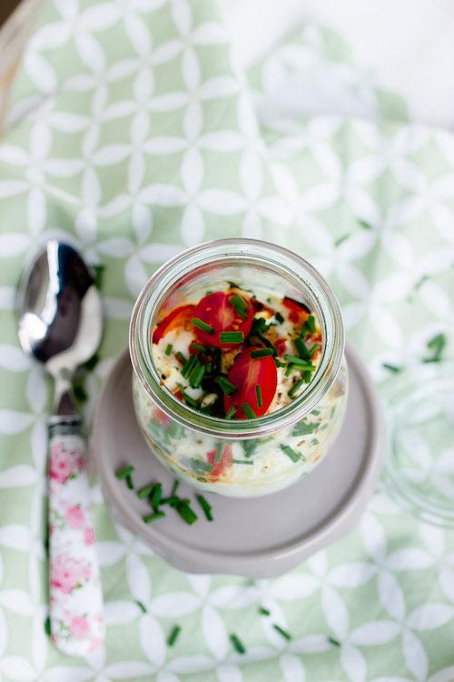 Gebackene Eier mit geschmorter Paprika und Feta / Mein Frühstücksglück 3