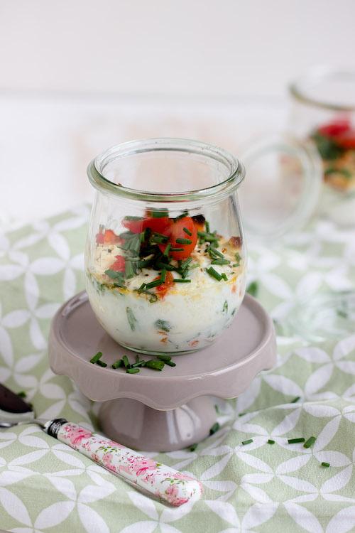 Gebackene Eier mit geschmorter Paprika und Feta / Mein Frühstücksglück 5