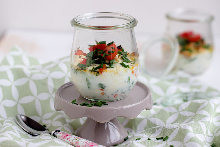 Gebackene Eier mit geschmorter Paprika und Feta / Mein Frühstücksglück 1