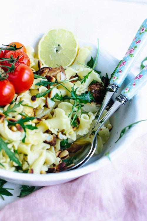 Pasta mit geröstetem Blumenkohl und Knoblauch-Zitronensauce - Pastaliebe im Januar 50