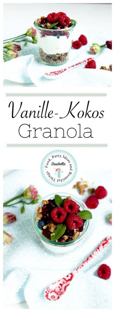 Vanille-Kokos-Granola mit griechischem Joghurt und Früchten - Mein Frühstücksglück 24