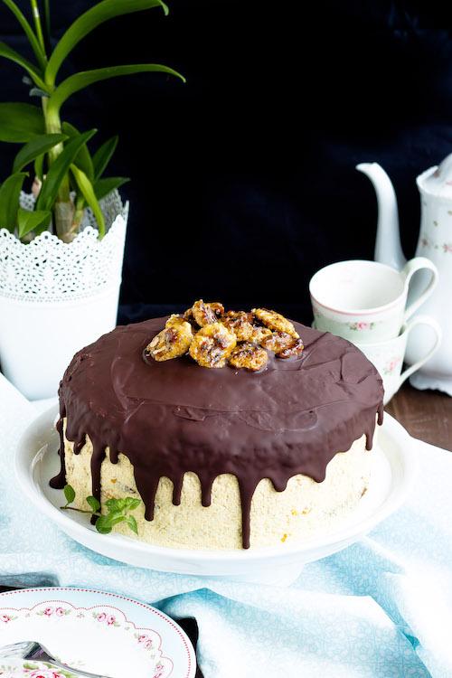 Kaffee-Walnuss Torte mit Mandarinen 5